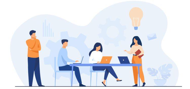 Brainstorming Zusammenarbeit