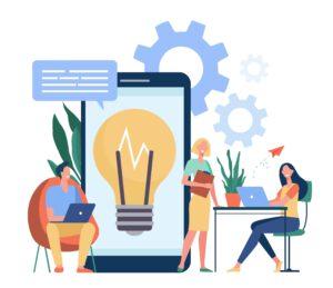 Ideenaustausch im Team