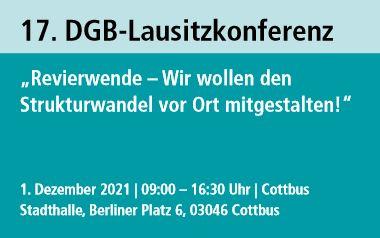 DGB-Lausitzkonferenz: Wir wollen den Strukturwandel vor Ort mitgestalten!